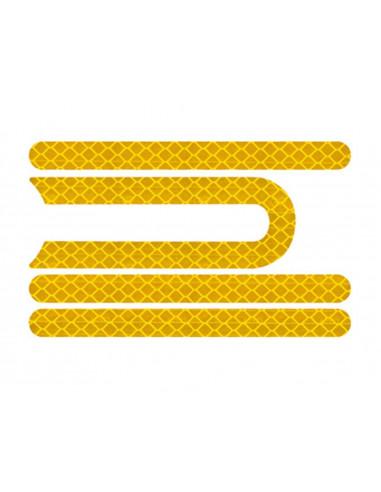 Żółte odblaskowe naklejki osłon do...